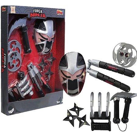 Fantasia Força Ninja Máscara e Acessórios - Zoop Toys