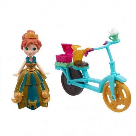 Boneca Frozen Mini Anna & Bicicleta - Hasbro