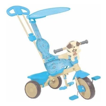 Triciclo Infantil Velobaby Fisher Price Azul Bandeirante