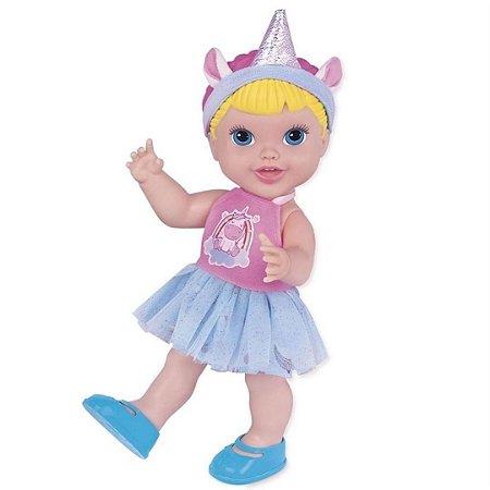 Boneca Baby'S Collection Unicórnio -  Super Toys
