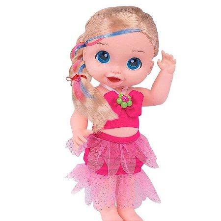 Boneca Babys Collection - Bela Sereia Pink - Super Toys