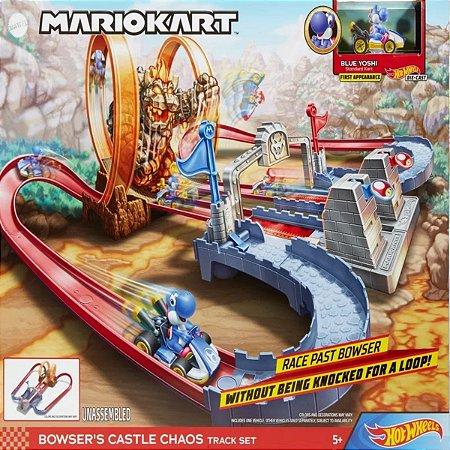 Pista Hot Wheels Mario Kart - Track Castelo do Caos de Bow