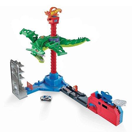 Hot Wheels City - Ataque Aéreo Do Dragão - Mattel