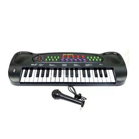 Teclado E Microfone Infantil - Dm toys