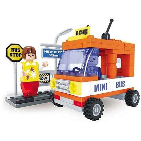 Blocos de Montar - Mini Bus - Cidade - 93 Peças - Xalingo