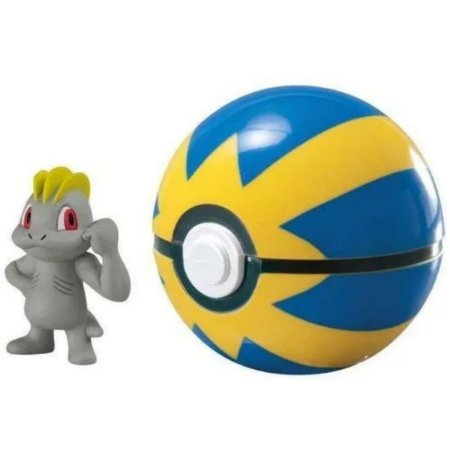 Pokemon Clip & Carry Machop & Quick Pokebola - Sunny