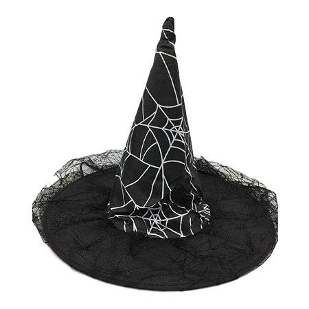 Chapéu de Bruxa com Véu
