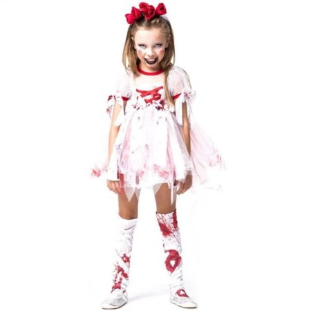 Fantasia Halloween Infantil Noiva Zumbi