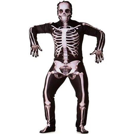 Fantasia Halloween Adulto Esqueleto