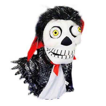 Fantoche Caveira Halloween Decoração