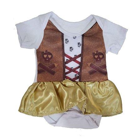 Fantasia Halloween Piratinha Baby - Fantasias Super