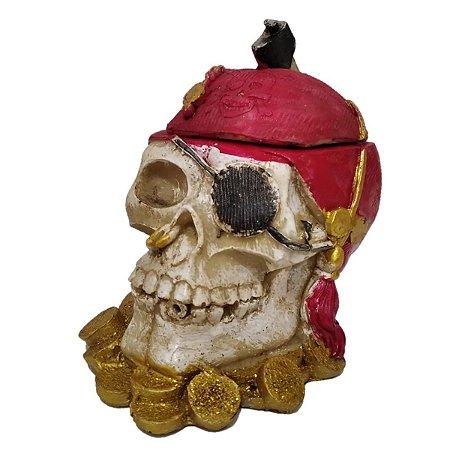 Decoração Halloween Caveira Pirata