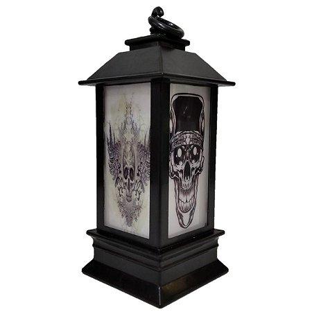 Decoração Halloween Mini Lampião Com Luz