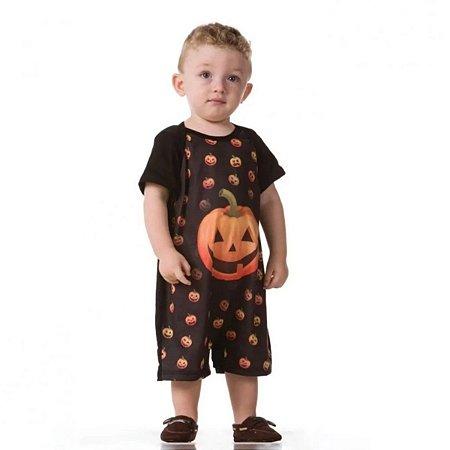 Fantasia Halloween Macacão Abóbora Baby