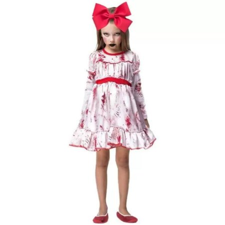 Fantasia Halloween Infantil Boneca Do Mal