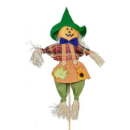 Decoração Halloween Espantalho Abóbora