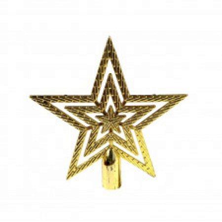 Enfeite Natal Ponteira Estrela 14 cm