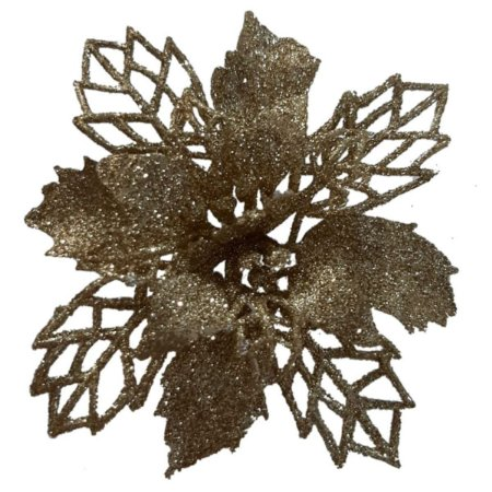 Enfeite Natal Flor Glitter