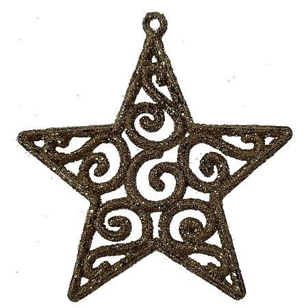 Enfeite Natal Estrela Glitter