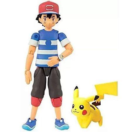 Boneco Pokémon Ash E Pikachu - Sunny
