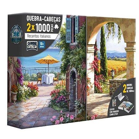 Puzzle Quebra Cabeça Recantos Italianos 2x1000 Peças Toyster