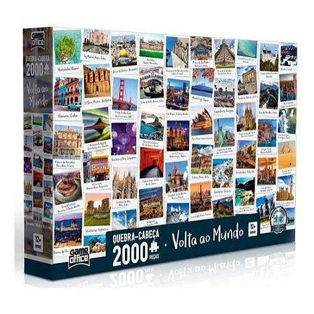 Quebra Cabeça Puzzle Volta Ao Mundo 2000 Peças Toyster