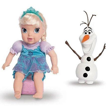 Boneca Baby Elsa e Olaf Vinil - Mimo
