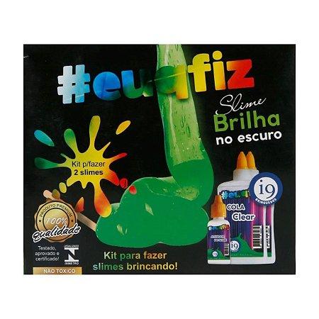 Kit Brinquedo Slimes - Brilha no Escuro - #euqfiz