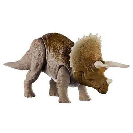 Dinossauro Triceratops Com Sons Jurassic World Attack