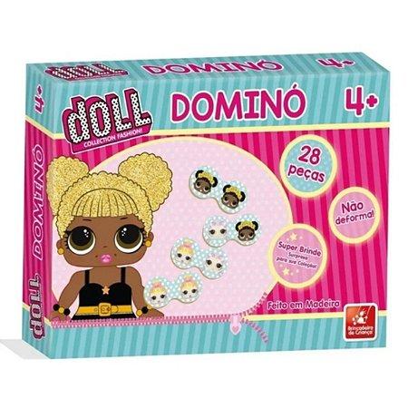 Dominó Doll Madeira 28 Peças - Brincadeira De Criança