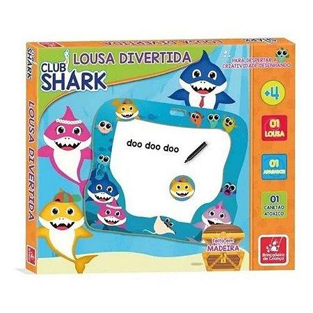 Lousa Divertida Club Shark em Madeira - Brincadeira de Criança