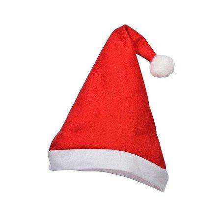 Gorro Papai ou Mamãe Noel Natal Vermelho de Veludo