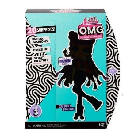 Boneca Lol Surprise Omg Doll Core Roller Chick - Candide