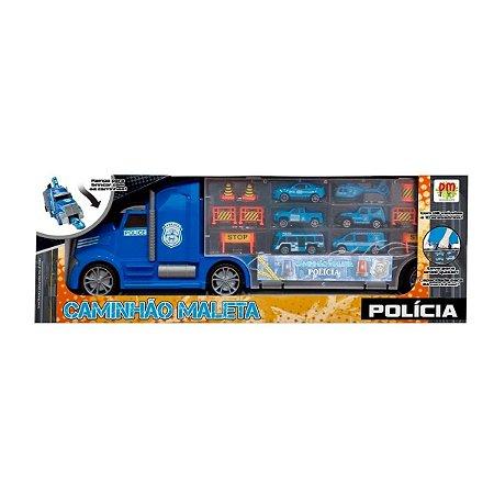 Caminhão Maleta Polícia - Dm Toys