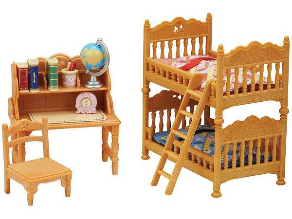 Sylvanian Families Quarto Infantil  c/ Acessórios Epoch