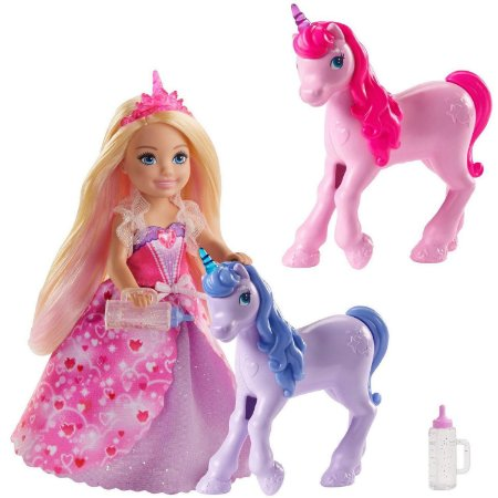 Boneca Barbie Dreamtopia Chelsea e Unicornio Mattel Gjk17