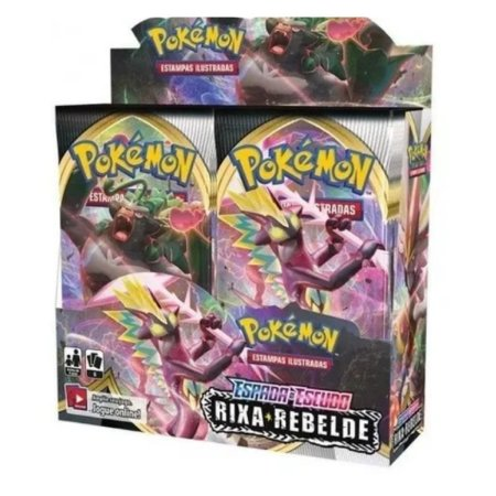 Box Pokémon Espada E Escudo Rixa Rebelde - Copag