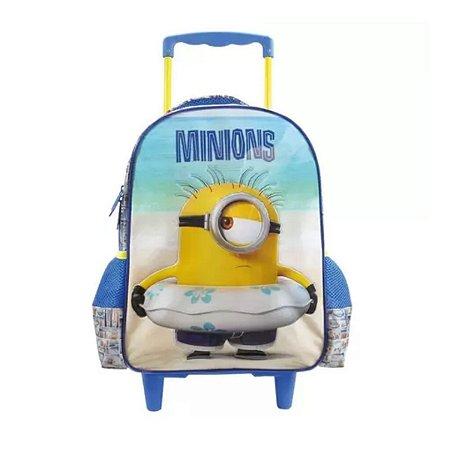 Mochila Rodinhas Infantil Minions Paradise