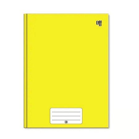 Caderno Brochura 1/4 Capa Dura Amarelo 48 Folhas Off