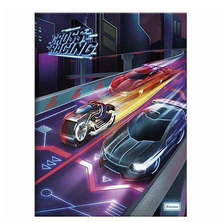 Caderno Brochura 1/4 Cross Racing 96 Folhas - Foroni