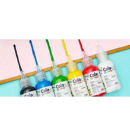 Cola Colorida 20g 6 Cores- Leoarte