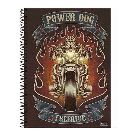 Caderno Capa Dura 96 Folhas Power Dog - Foroni