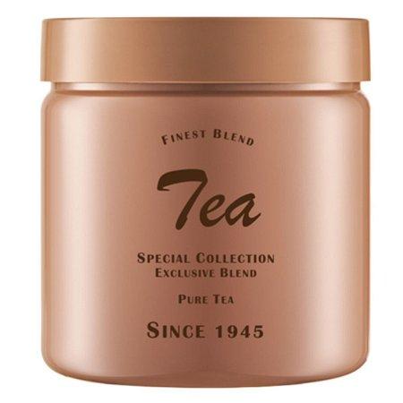 Pote de Plástico Redondo Bege Tea c/ Tampa de Rosca