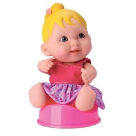 Boneca Babies New Collections Faz Xixi Loira- Bee Toys