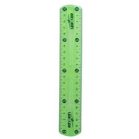 Régua Flexível 30cm Verde - Leo E Leo