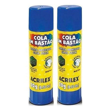 Cola Em Bastão 20g Kit Com 2 - Acrilex