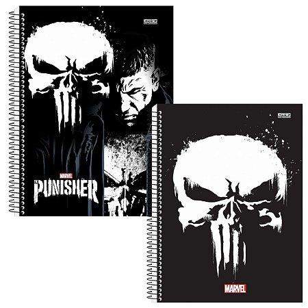 Kit Com 2 Cadernos Universitário Espiral 96 Folhas The Punisher - São Domingos