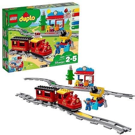 Trem a Vapor 59Pcs - Lego Duplo