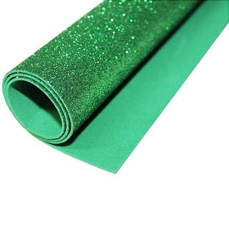 5 Folhas de EVA Com Brilho Verde - LeoArte