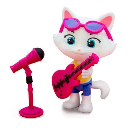 Figura Colecionável 44 Gatos - Milady com Microfone e Baixo - Toyng